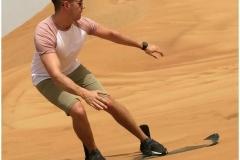 Sand-skiing