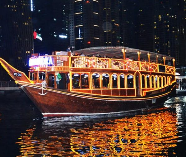 Dhow Cruise Dubai Marina Dinner with family